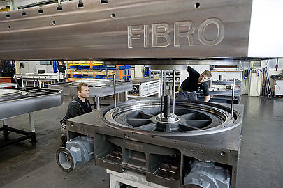 FIBRO Rotary Tables, assembly